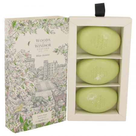 White Jasmine by Woods of Windsor Three 75ml Luxury Soaps 75ml for Women by