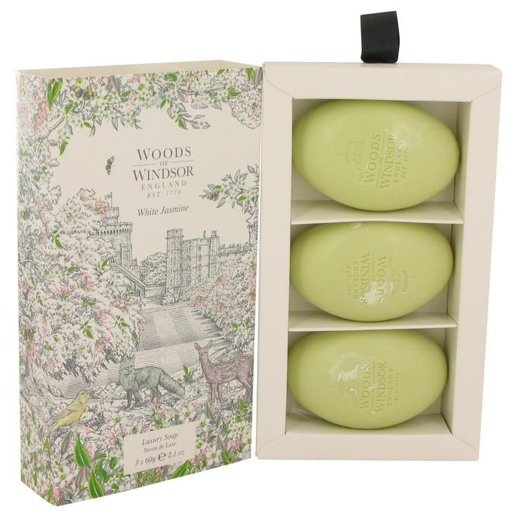 White Jasmine by Woods of Windsor Three 75ml Luxury Soaps 75ml for Women