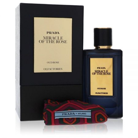 Prada Olfactories Miracle Of The Rose  by Prada Eau De Parfum Spray with Free Gift Pouch 100ml 100ml Eau De Parfum Spray + Gift Pouch for Men by