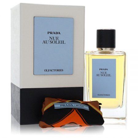 Prada Olfactories Nue Au Soleil by Prada Eau De Parfum Spray with Free Gift Pouch 100ml 100ml Eau De Parfum Spray + Gift Pouch for Men by
