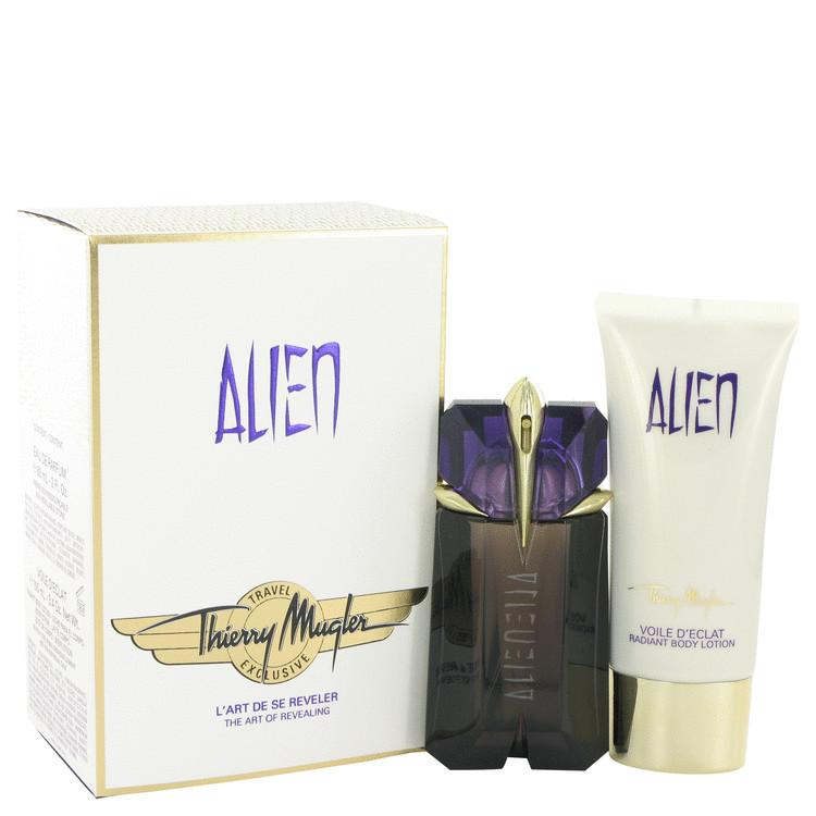 Alien by Thierry Mugler Gift Set — 60ml Eau De Parfum Spray + 100ml Body Lotion  (Travel Set)